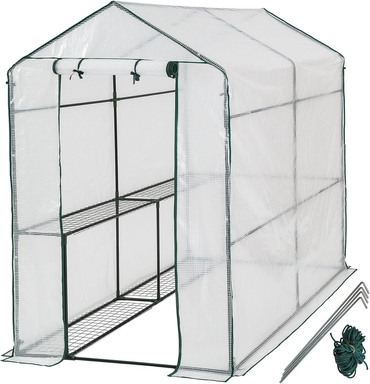 TecTake Invernadero de jardín vivero casero Plantas Cultivos - Varios Modelos - (186x120x190cm | No. 401861)