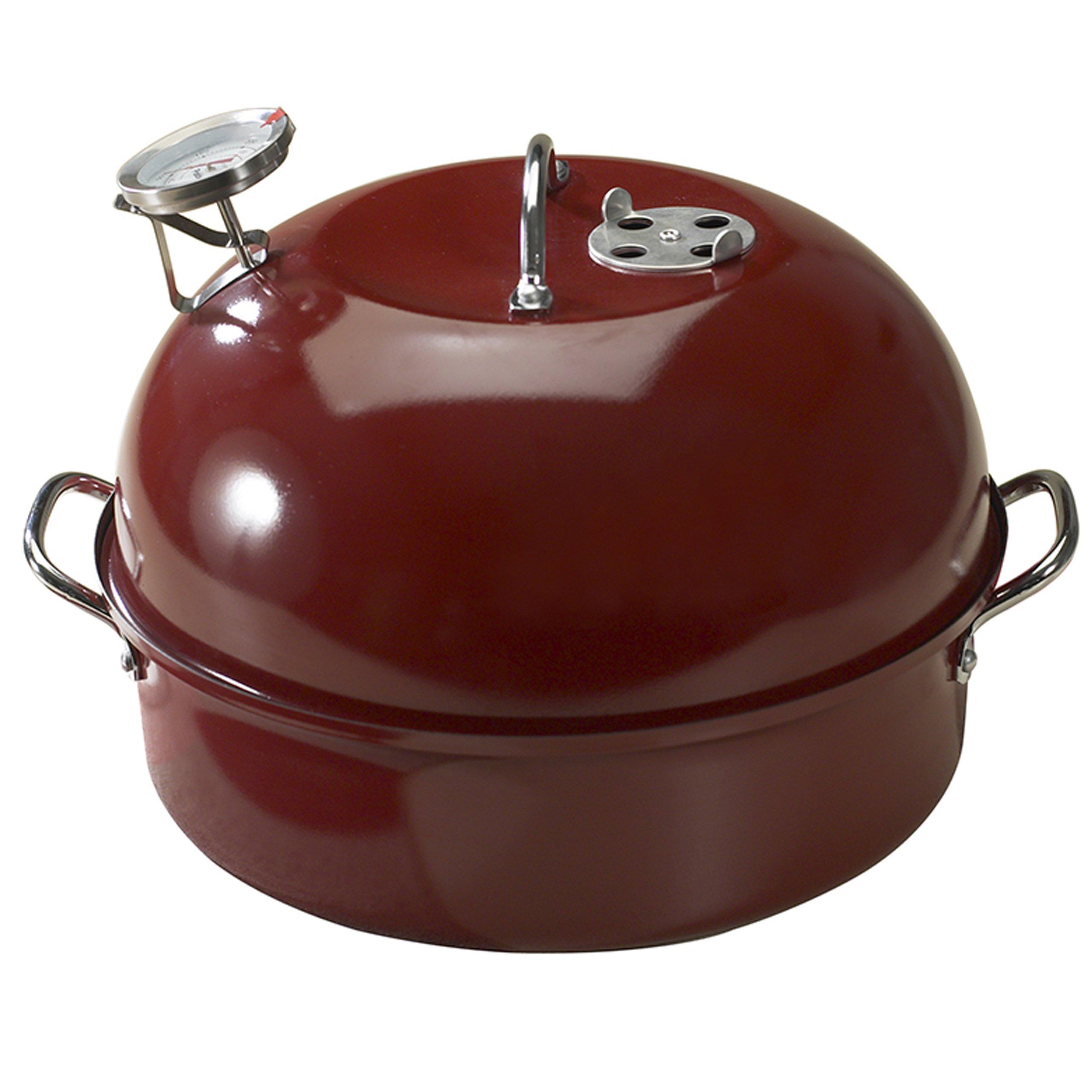 Nordic Ware 365 Indoor/Outdoor Kettle Smoker Red 6