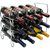 Sorbus 3-Tier Stackable Wine Rack - Classic Style Wine Racks for Bottles - Perfect for Bar