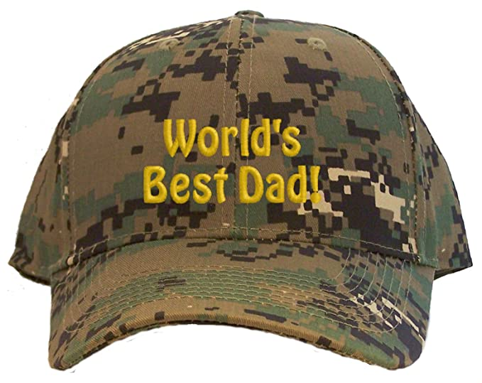 59fe09c768d9e Image Unavailable. Image not available for. Color  World s Best Dad Embroidered  Baseball Cap - Digital Camo