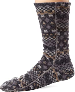 Polar Extreme Heat Men/'s Insulated Thermal Fleece Lined Slippers Gray Multi