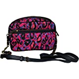Juicy Couture Nylon Quilted Crossbody Handbag Multi Color Navy Trimming Leather Chain Strap