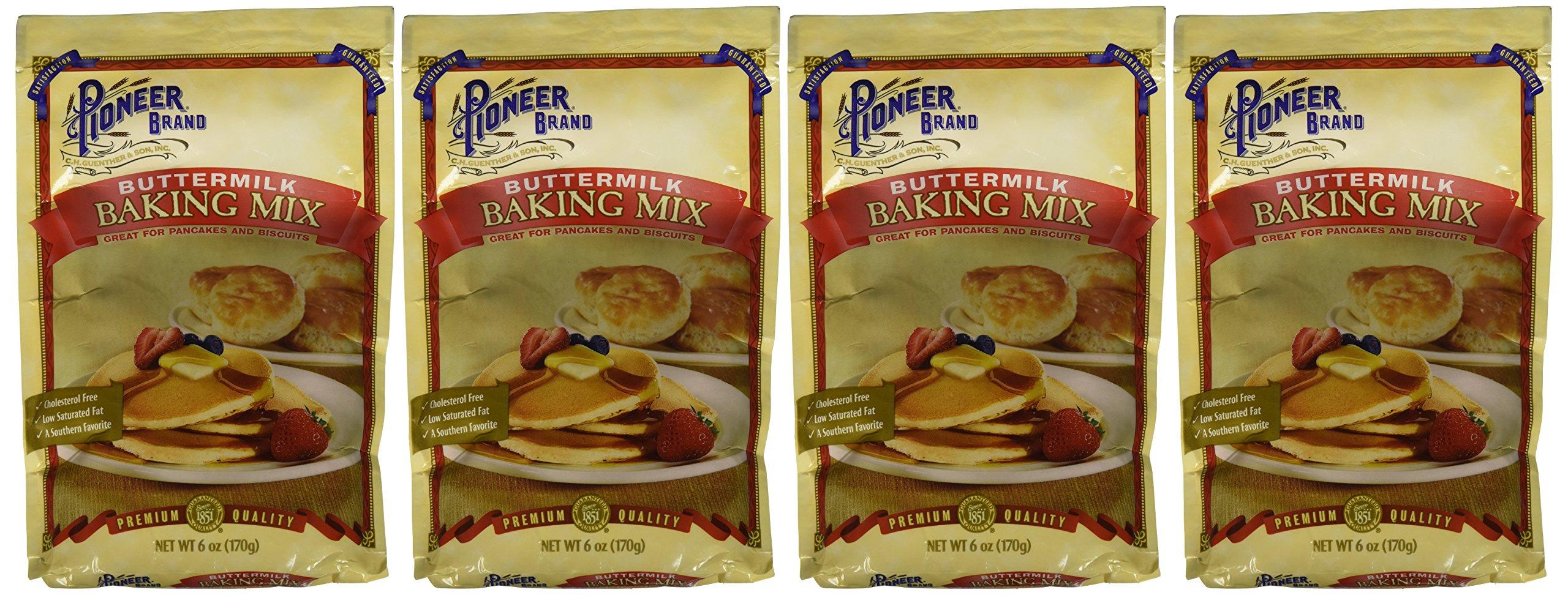 Pioneer Buttermilk Biscuit & Baking Mix, 6 Oz (4 Pack)