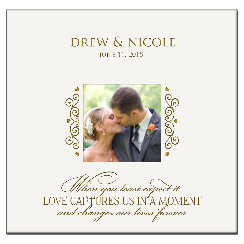 Personalized Wedding Photo Album Custom Engraved Photo Book Holds 200 4x6 Photos Wedding Gift Ideas By Dayspring Milestones by LifeSong Milestones