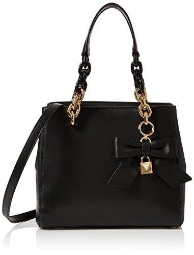 ade3102a6403 Michael Kors Womens Cynthia Satchel Black (Black)  Handbags  Amazon.com