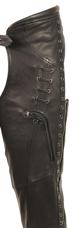 Black, X-Large Milwaukee Leather Womens Stylish Chap