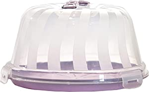 Top Shelf Elements Carrier for Standard 2 Layer 9 inch Cakes, Bundt Cake, Pie Carrier, Cheesecake Holder. Perfect Caddie, Stylish Cake Carrier with Pretty Lilac Color