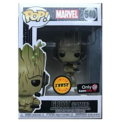 Funko Pop! Marvel Gamer Groot Standing with Headset Chase Exclusive Vinyl Figure: Toys & Games