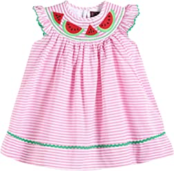 Lil Cactus Girls Classic Flutter-Sleeved Smocked Bishop Dress