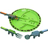 Constructive Eating Dinosaur Combo with Utensil Set and Plate for Toddlers, Infants, Babies and Kids - Flatware Toys are…