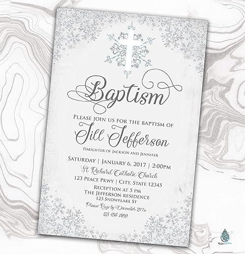 BOY Naming Day Party Invite Digital File Christening Invitation Baptism GIRL
