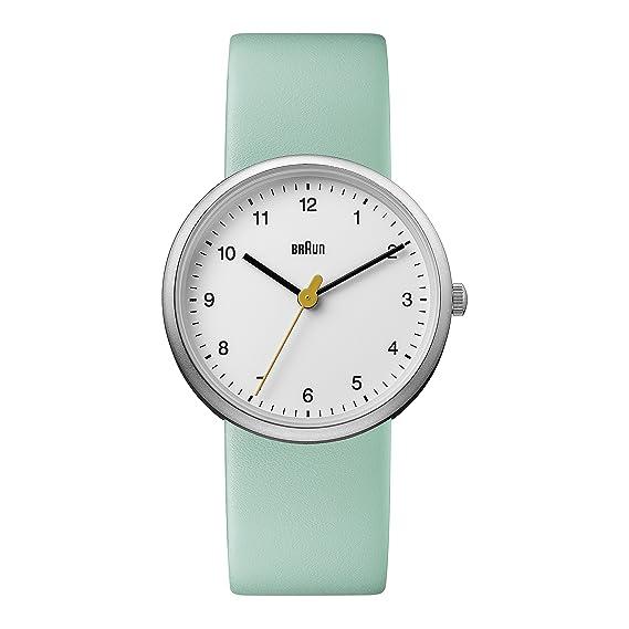 Braun Reloj Análogo clásico para Mujer de Cuarzo con Correa en Cuero BN0231WHGRLAL: Amazon.es: Relojes