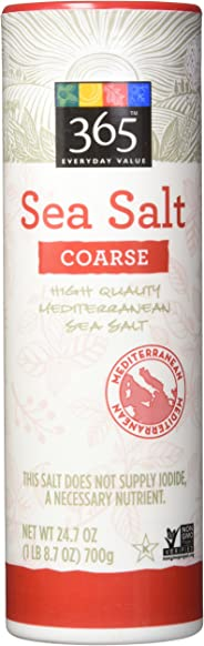 365 Everyday Value Coarse Sea Salt, 24.7 oz