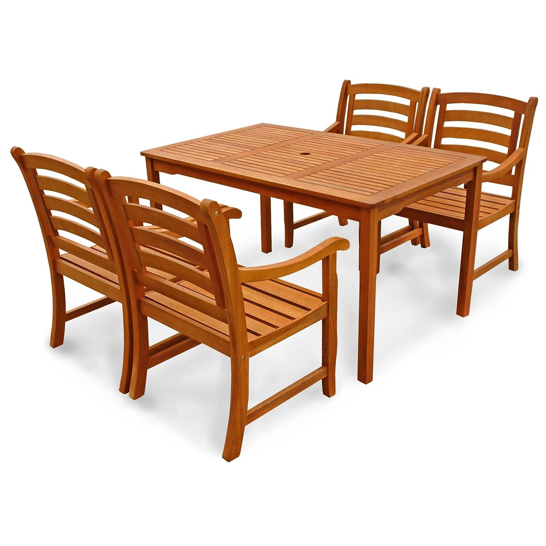 indoba ind 70289 mose5st4 serie montana gartenm bel set 5 teilig aus holz fsc zertifiziert. Black Bedroom Furniture Sets. Home Design Ideas