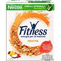 Fitness Fruits Cereali Fiocchi di Frumento con Frutta Uvetta Ananas Papaya Cocco e Mela - 325 gr