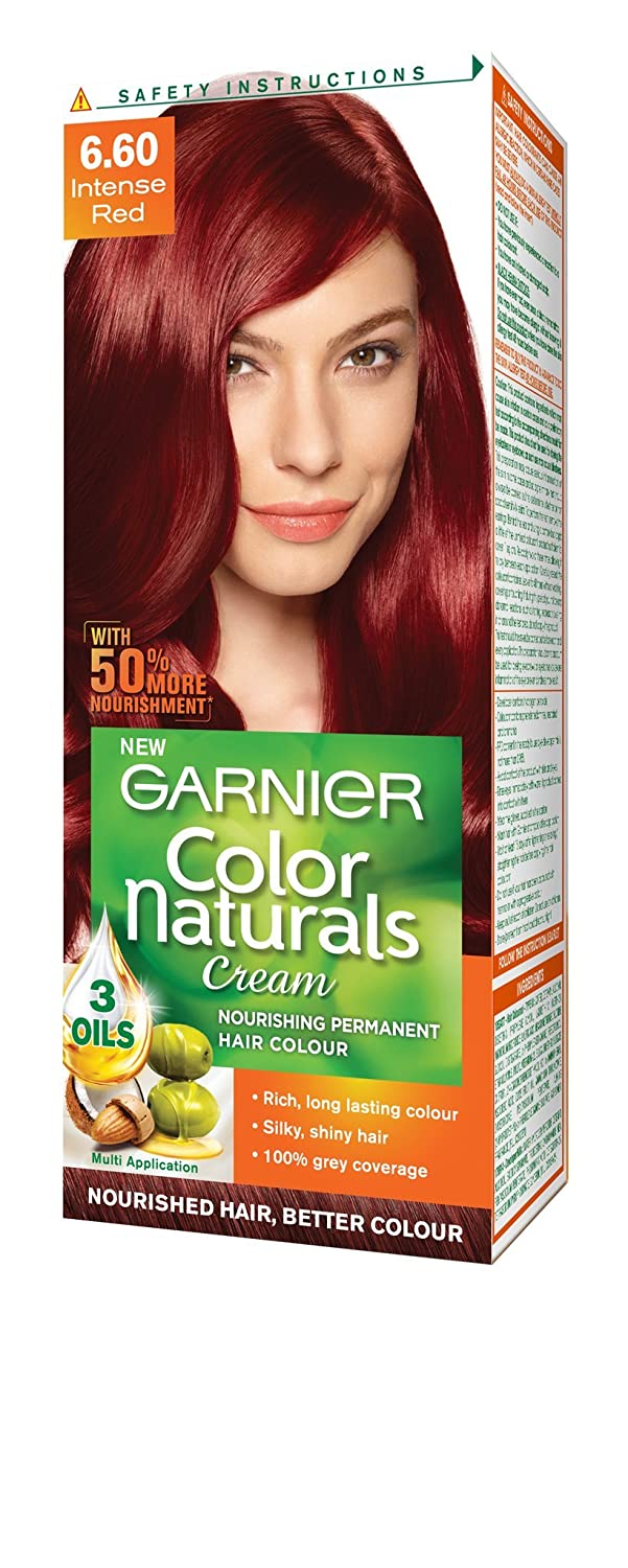 Garnier Color Naturals Shade 6.60 Intense Red, 70ml + 40g: Amazon ...