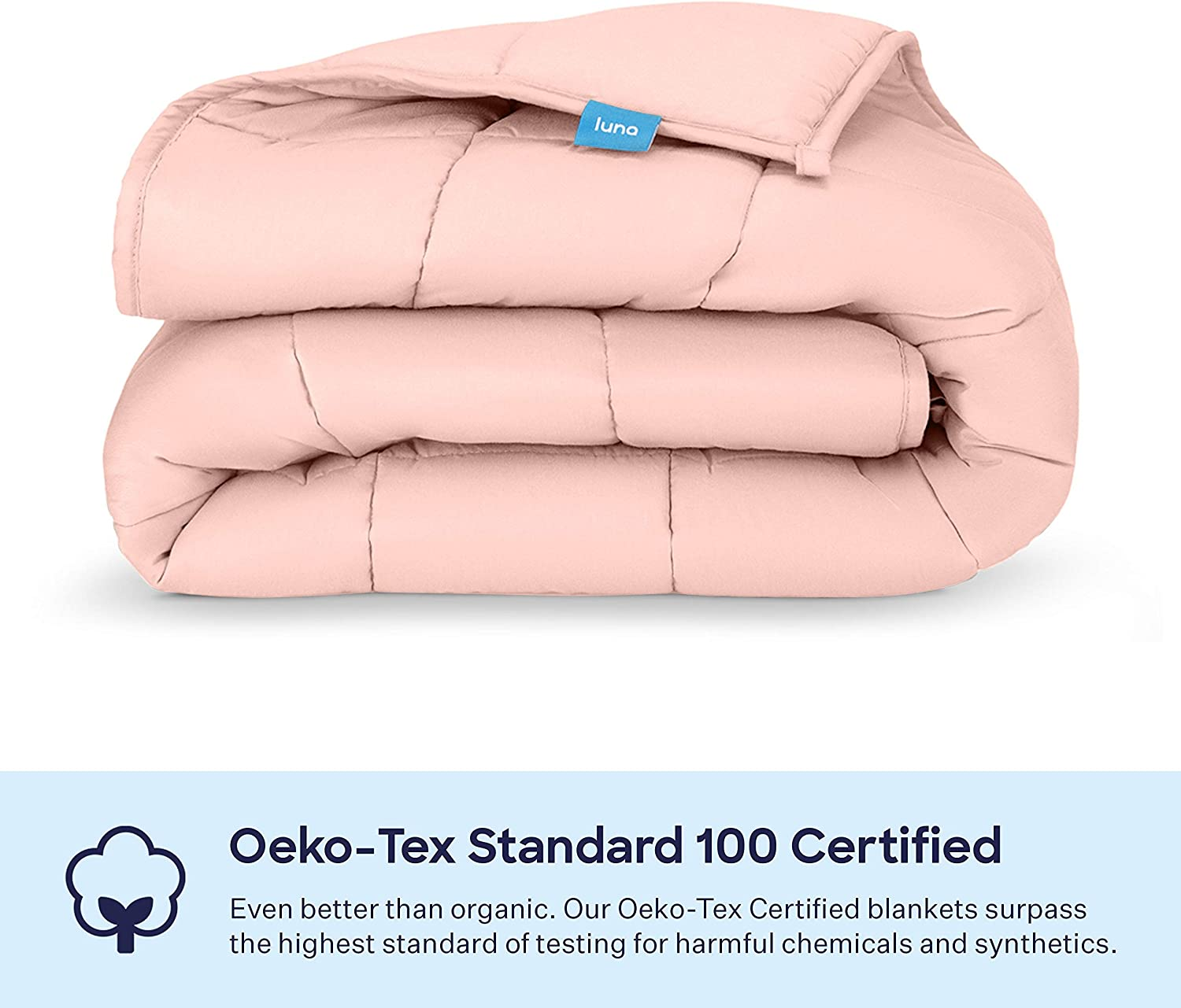 USA Designed 60x80 Pink Heavy Cool Weight Individual Use 100/% Oeko-Tex Certified Cooling Cotton /& Glass Beads 20 lbs Queen Size Bed Luna Adult Weighted Blanket