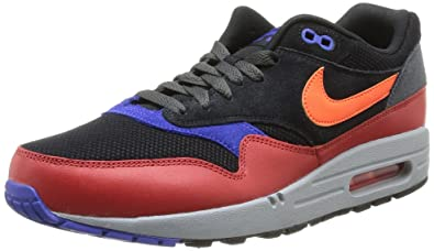 new arrival 84547 2dff2 Nike Men s Air Max 1 Essential Shoes, Black Hyper Crimson Red Clay,