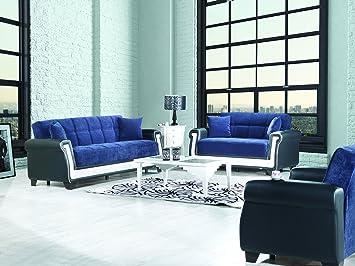 PROLINE Functional Futon Living Room Set (Blue)