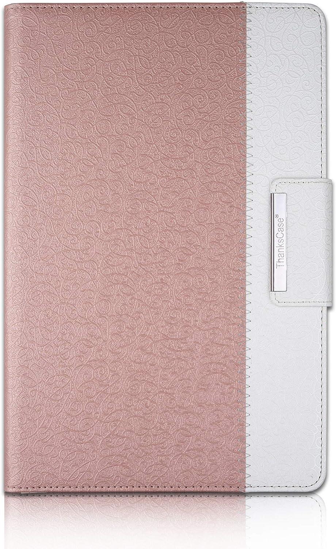 Thankscase Samsung Galaxy Tab S6 10.5インチ用 回転ケースカバー Galaxy Tab S6用 Sペンホルダー付き 財布ポケット ハンドストラップ Galaxy Tab S6 10.5 モデル SM-T860/T865 /T867 2019用 For Samsung Galaxy Tab S6 10.5 LA8021TABS6105-RG