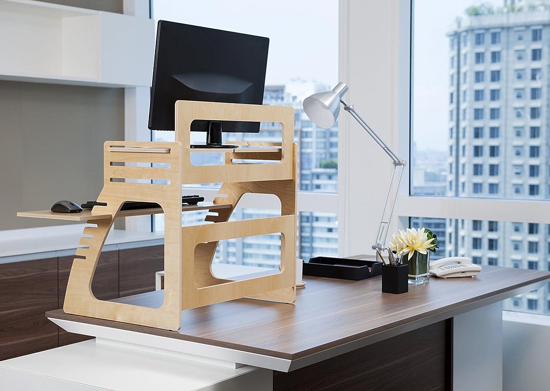 Amazoncom Well Desk Adjustable Standing Desk Riser Simple and