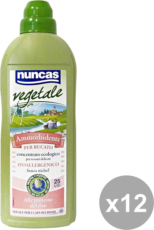 Nuncas Juego 12Suavizante 750ml. 100% vegetal colada limpiadoras Casa