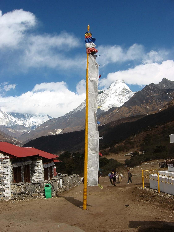 verticales BUDDHAFIGUREN Banderas budistas de oraci/ón 2.00 metros de altura poli/éster