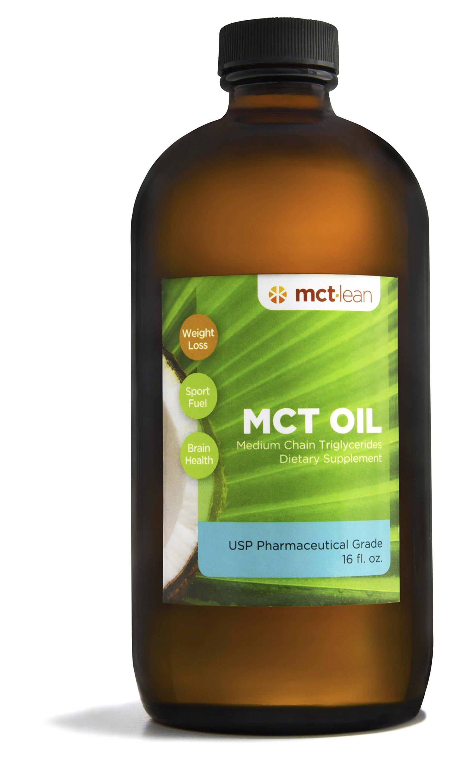 MCT Lean MCT Oil, 16 Oz. - 100% USP Verified (Pharmaceutical Grade), Certified Kosher