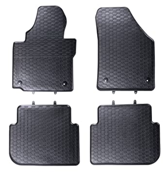 Amazon.es: VW - Juego de alfombrillas, goma, 4 unidades, para VW Touran, color negro