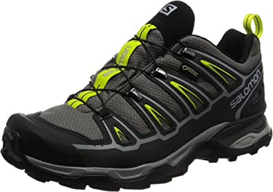 Salomon X Ultra 2 GTX, Zapatillas de Senderismo para Hombre, Gris (Gris/(Quiet Shade/Black/Lime Punch.) 000), 44 2/3 EU: Amazon.es: Zapatos y complementos