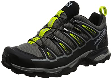 Salomon X Ultra 2 GTX, Zapatillas de Senderismo para Hombre, Gris/(Quiet Shade/Black/Lime Punch.) 000, 44 2/3 EU: Amazon.es: Zapatos y complementos