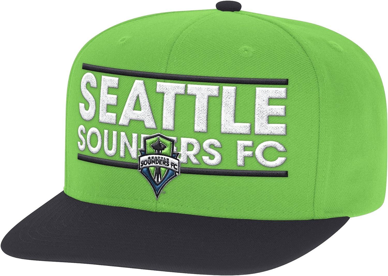 adidas MLS Mens Seattle Sounders Snapback Cap Hat New