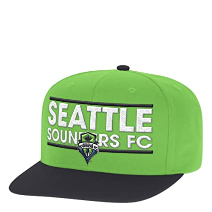 1b03948a7a6 Image Unavailable. Image not available for. Color  adidas MLS Seattle  Sounders Fc Men s Dassler Flat Brim Snapback Hat