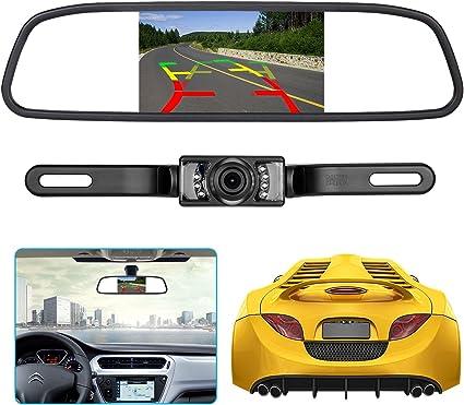 4.3/'/' TFT LCD Rear View Mirror Monitor LED Reverse Car Parking Backup Camera MT