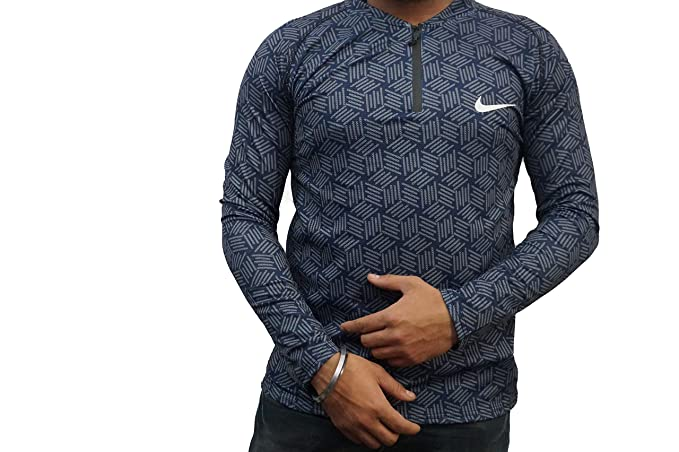899805f1ad5634 SMENTER Neon York for Men s Round Neck Half Sleeve Gym Wear Grey Color t  Shirt