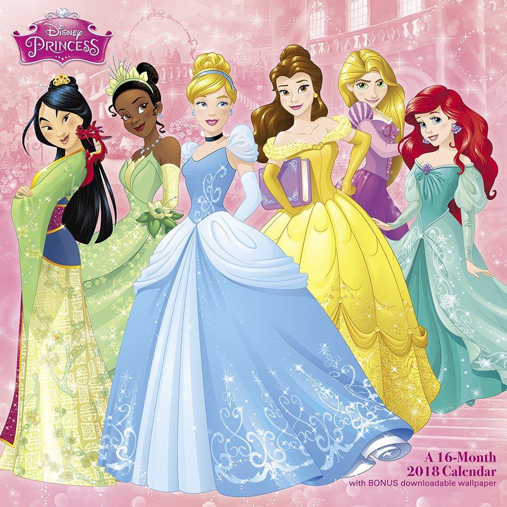 Printable Calendar 2019 Pocahontas Prinsess For February For Kids 2018 Disney Princess Wall Calendar (Day Dream): Day Dream