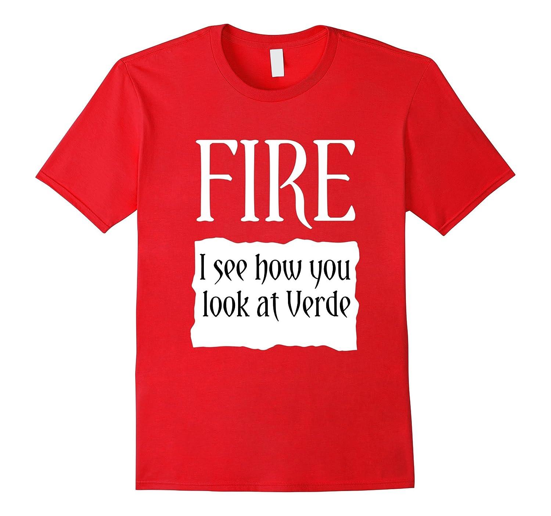 Fire Hot Sauce Packet Taco Halloween Costume T-Shirt-FL