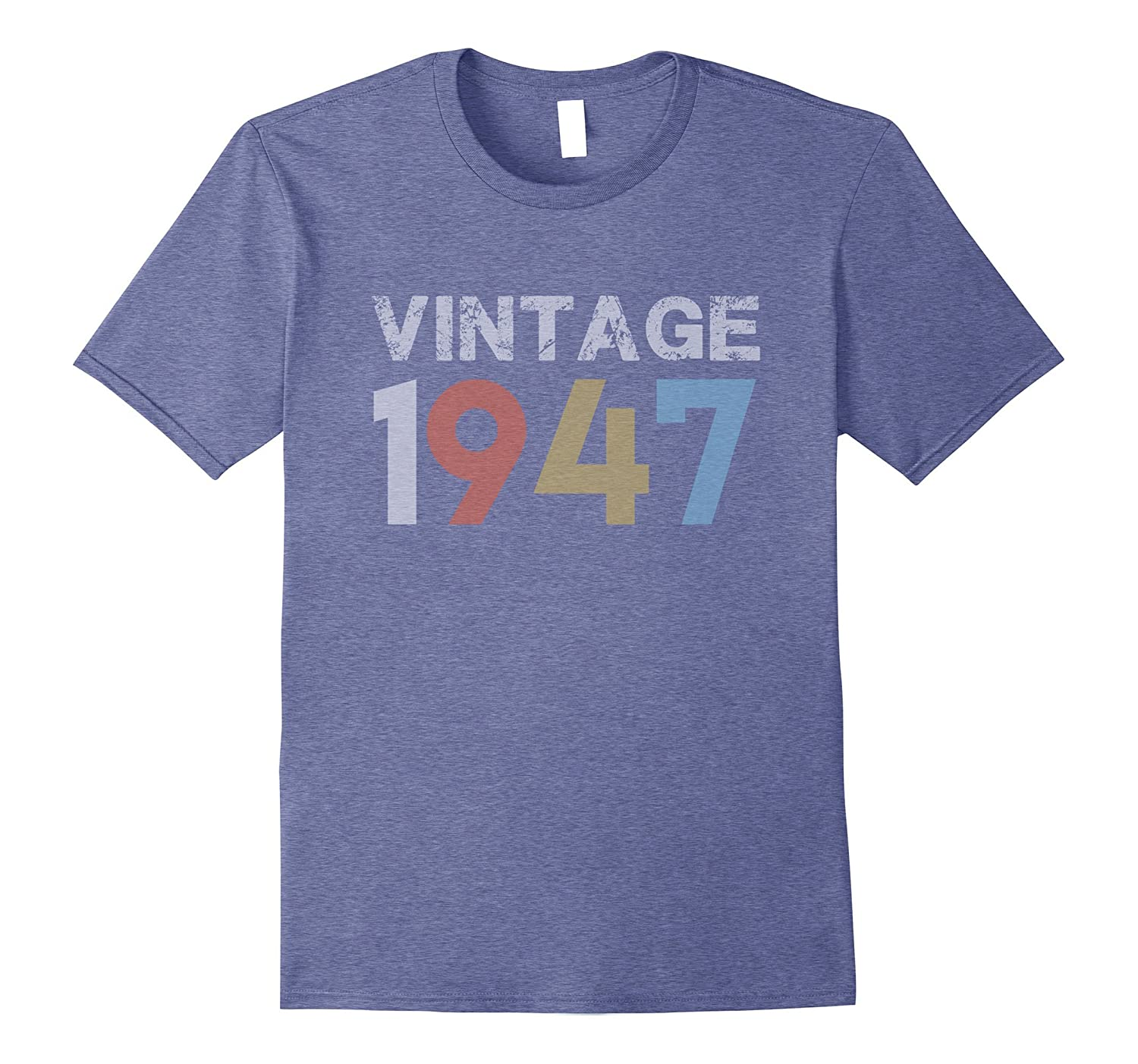 Vintage 1947 70th Birthday Gift For 70 Year Old T Shirt ANZ