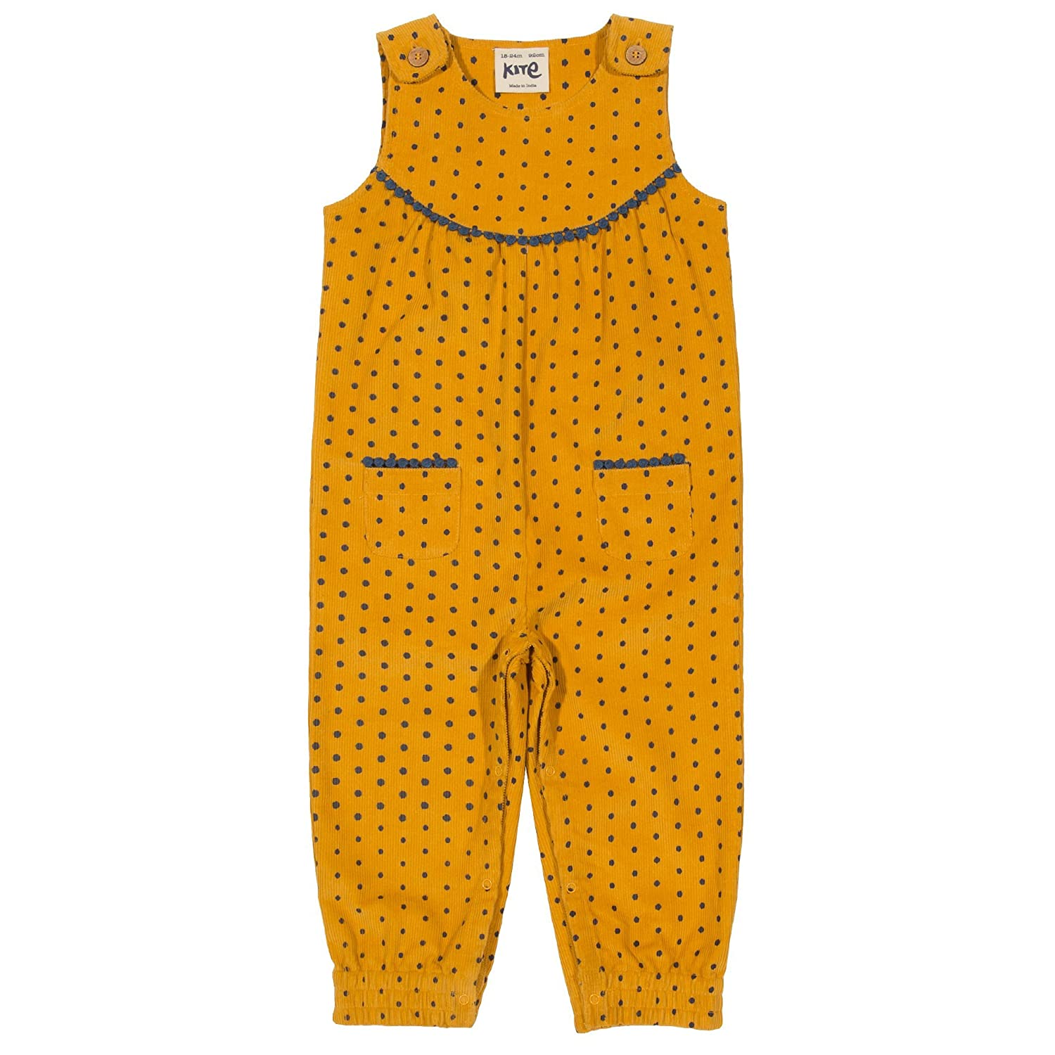 Kite Toddler Girls Polka Dungarees 18-24m 92cm Ochre TG0231