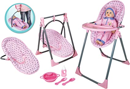 Amazon Com Lissi Doll 4 In 1 Highchair Set Toys Games