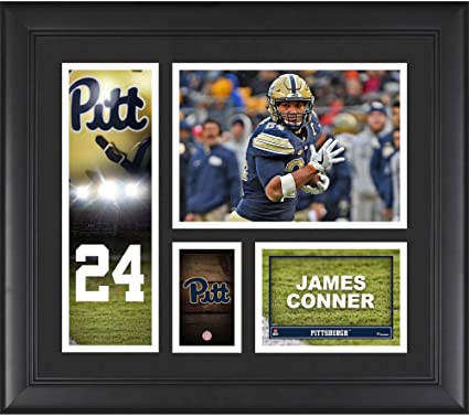 """8e43d435c James Conner Pittsburgh Panthers Framed 15"""" x 17"""" Player Collage  - College Player Plaques"""