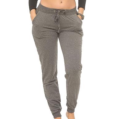 264e31754e Coco-Limon Jogger Pants Women, Cotton-Blend Fleece Rib Trimming & Side  Pockets