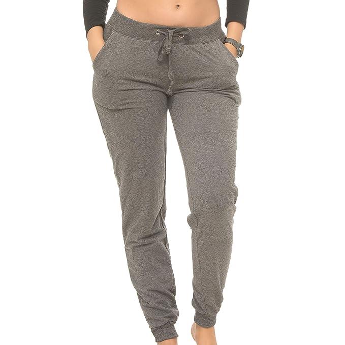 ddf40d3566c0d9 Coco-Limon Jogger Pants Women, Cotton-Blend Fleece Rib Trimming & Side  Pockets at Amazon Women's Clothing store: