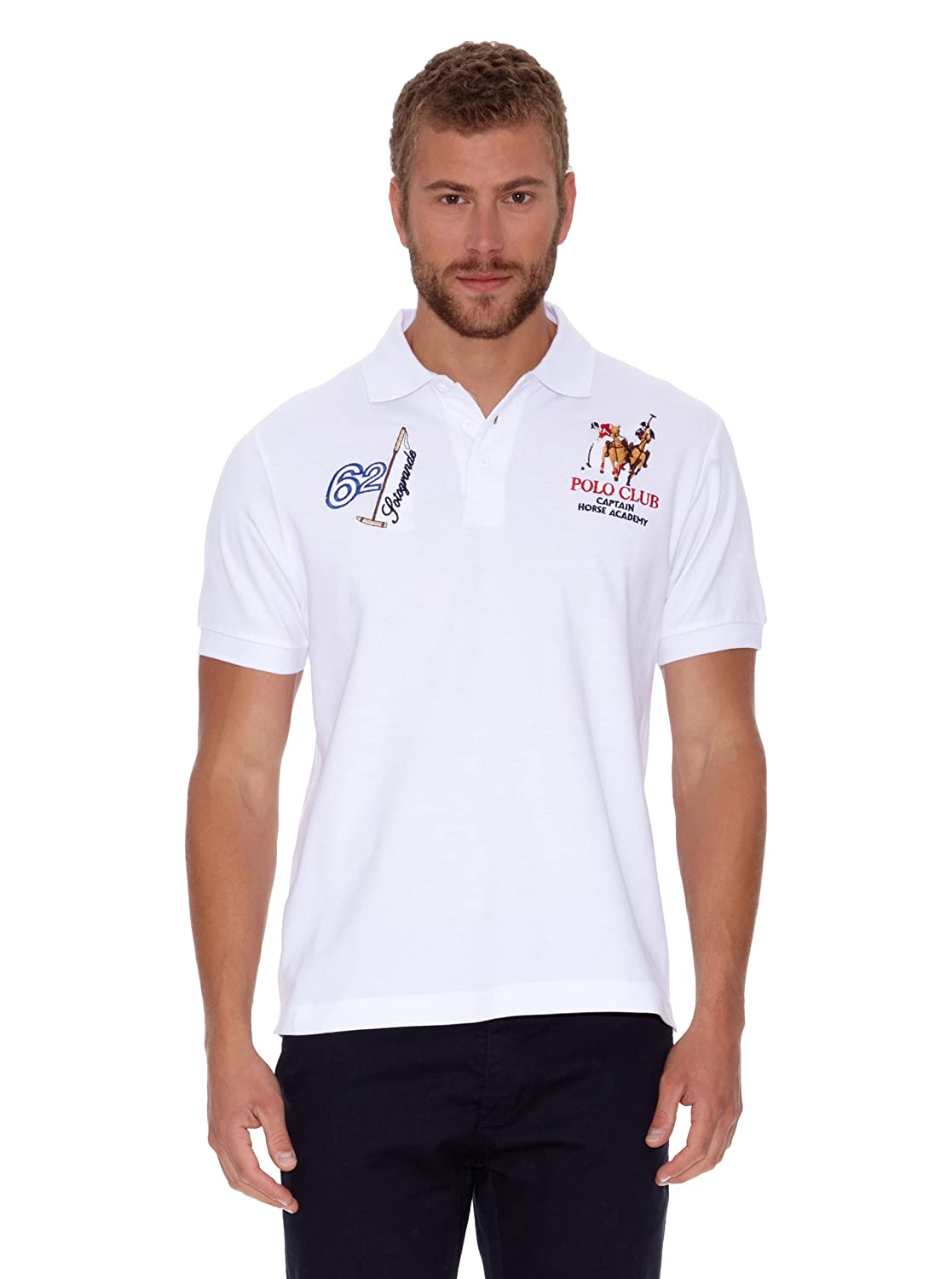 POLO CLUB Polo Manga Corta Sotogrande Blanco M: Amazon.es: Ropa y ...