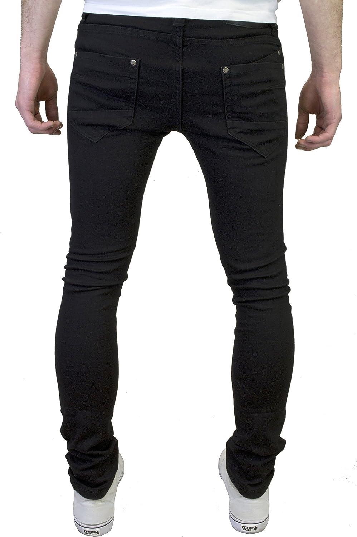 526Jeanswear Mens Designer Super Skinny Biker Ripped Detailed Jeans