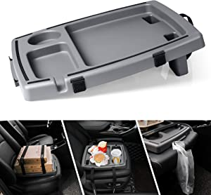 Seven Sparta Food & Drink Tray for Car with 5 Compartments Organizer, Hooks, Anti-Slip Silicone Strip & Straps Passenger Seat Food Tray for Car