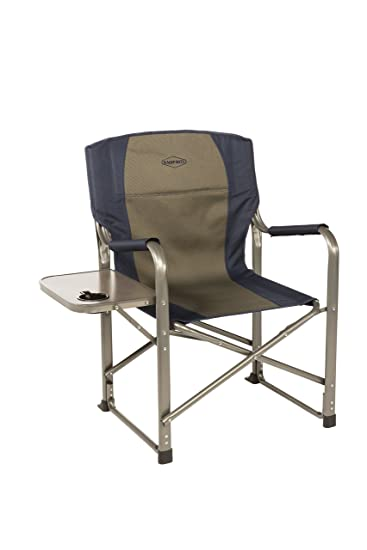 Amazon Com Kamp Rite Director S Chair With Side Table Blue