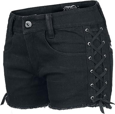 Vixxsin Fast Shorts Pantalones Cortos Para Mujer Color Negro Amazon Es Ropa Y Accesorios