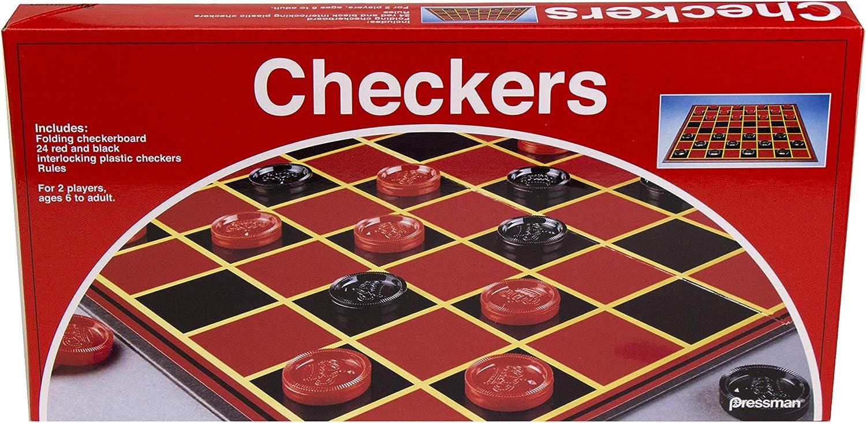 Pressman Checkers -- With Folding Board and Interlocking Checkers