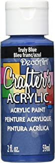 product image for DecoArt Crafter's Acrylic Paint, 2-Ounce, Truly Blue